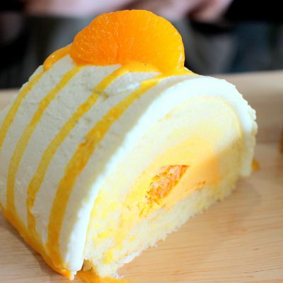 Orange summer cake roll 4